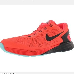 Nike Lunarglide 6 Orange Tennis Size 8